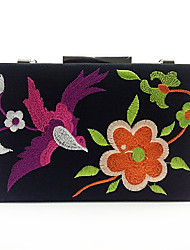 cheap -Women Bags PU Evening Bag Embroidered for Wedding Birthday Event/Party Business Casual Stage Formal Date Party & Evening All Seasons Black