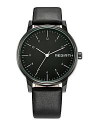 Недорогие -REBIRTH Муж. Наручные часы Нарядные часы Модные часы Кварцевый Японский кварц Защита от влаги Нержавеющая сталь Группа Cool Черный