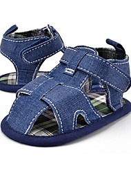 cheap -Children's Baby Shoes Fabric Summer Fall First Walkers Sandals for Casual Party & Evening Dress White Blue