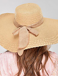 cheap -Women's Hat / Vintage / Classic & Timeless Linen Sun Hat - Solid Colored Pure Color / Summer