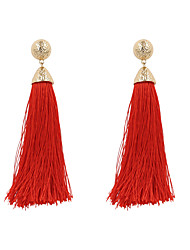 cheap -Women's Drop Earrings - Personalized Tassel Bohemian Beige Red Light Blue Irregular Earrings For Wedding Anniversary Birthday