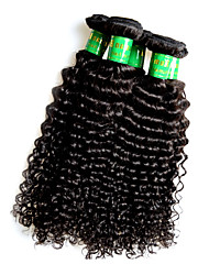 cheap -wholesale indian remy human hair kinky curly style 5bundles 500g lot natural indian hair color black