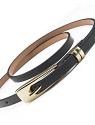 Women's Fashion Casual Candy Color Needle Buckle Belt