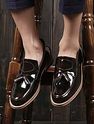 Masculino sapatos Pele Primavera Verão Conforto Mocassins e Slip-Ons Para Casual Preto Cinzento Escuro Vinho