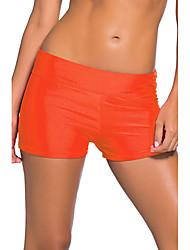 levne -Dámské Jednobarevné Kalhotky Plavky Vysoký sed Na ramínkách Oranžová Šedá Fialová Fuchsiová Světle modrá