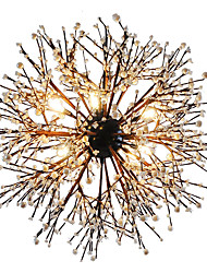 cheap -Modern Chandeliers Firework led Vintage Wrought Iron With 8 Lights Chandelier Island Pendant Lighting Living Room Bedroom Dining Room Ceiling Light