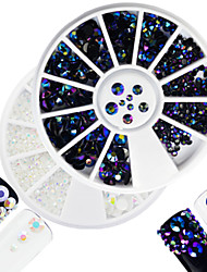 cheap -2pcs/set Fashion White&Laser Flame Mixed Size Shining Resin Jelly Rhinestone Decoration Nail Art Round Disc Glitter Rhinestone DIY Beauty
