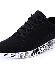abordables -Homme Chaussures Gomme Printemps & Automne Confort Basket Noir / Noir et Or / Rouge