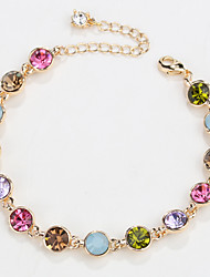 cheap -Women's Chain Bracelet Jewelry Natural Fashion Vintage Handmade Crystal Alloy Round Heart Irregular Jewelry ForWedding Party Anniversary
