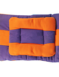 Dog Bed Pet Mats & Pads Color Block Keep Warm Double-Sided Soft Durable Orange Purple