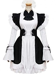 cheap -Gothic Lolita Dress Princess Women's Girls' Maid Suits Cosplay Cap Long Sleeves Short / Mini