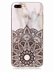 Per iPhone X iPhone 8 Custodie cover IMD Custodia posteriore Custodia Fiori Mandala Effetto marmo Morbido TPU per Apple iPhone X iPhone 8