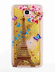 cheap -For Samsung Galaxy J5 Prime J5 (2016) Flowing Liquid Pattern Case Back Cover Case Eiffel Tower Soft TPU for J7 Prime J7 (2016) J5 J3 J3 (2016)