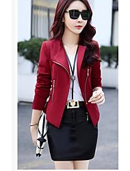 Women's Blazer V Neck 3/4 Length Sleeve
