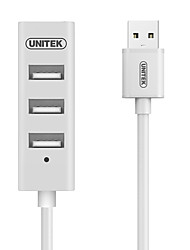 UNITEK Y-2146BWH USB2.0 High Speed 4Port HUB White Indicator Light with 30CM Cable
