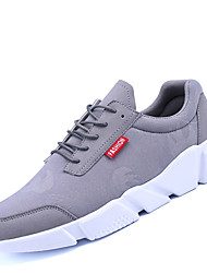 Men's Athletic Shoes Comfort PU Spring Fall Casual Outdoor Comfort Lace-up Flat Heel Black Gray Screen Color Flat