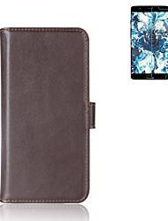 economico -Custodia Per OnePlus A portafoglio / Porta-carte di credito / Con supporto Integrale Tinta unita Resistente vera pelle per One Plus 5