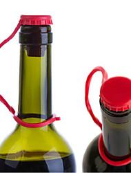 Anti-lost Kitchen Condiment Bottle Stopper Hanging Silicion Button Plug Gel Beer Wine Cork Random Color