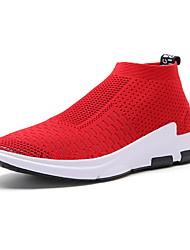 cheap -Women's Shoes Tulle Spring / Summer Sneakers Running Shoes Flat Heel Round Toe Black / Gray / Red
