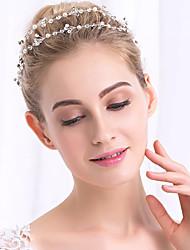 Perle Cristalli Copricapo-Matrimonio Occasioni speciali Fasce Catenina per la testa 1 pezzo