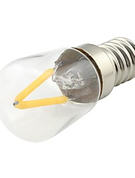 cheap -1pc 2W 170lm E14 LED Filament Bulbs 2 LED Beads COB Warm White 85-265V