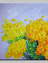 cheap -Hand Painted Beautiful Chrysanthemum Oil Painting On Canvas Modern Art Wall Pictures For Home Decoration Ready To Hang