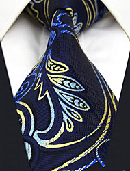 cheap -CXL15 New Unique For Mens Neckties Extra Long Handmade Navy Blue Paisley 100% Silk Fashion Dress Casual