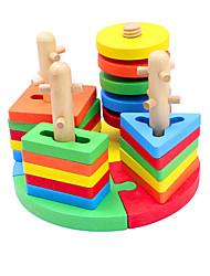 baratos -Blocos de Construir Quebra-Cabeça Jogos de Madeira Brinquedos de pesca Peixes Legal Crianças Brinquedos Dom