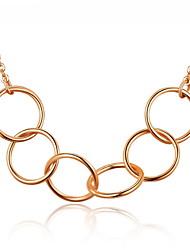 Women's Girls' Choker Necklaces Chain Necklaces Statement Necklaces Geometric Platinum Plated Basic Circular Unique Design Dangling Style