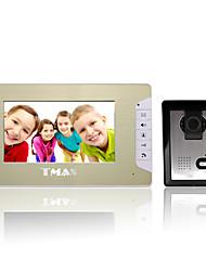 """tmax® 7 """"ingresso casa videocitofono lcd campanello citofono con 500TVL macchina fotografica di visione notturna"""