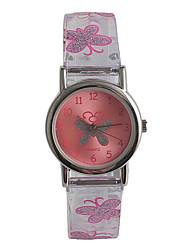 cheap -Kids' Fashion Watch Japanese Japanese Quartz / Stainless Steel Plastic Band Casual Pink