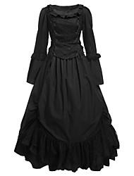 billiga -Gotisk Lolita Lolita Dam Klänningar Cosplay Vit Balklänning Långärmad Lång längd Plusstorlekar Anpassad Kostymer