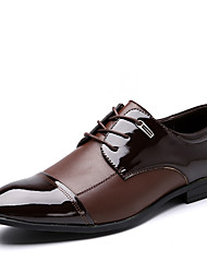 cheap -Men's Shoes Leather / Microfibre Spring / Fall Fashion Boots / Bullock shoes / Formal Shoes Oxfords Walking Shoes Black / Brown / Wedding