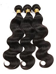 economico -Ciocche a onde capelli veri Brasiliano Ondulato naturale 6 mesi 1 pezzo tesse capelli