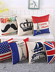 cheap -Personality National Flag Design Pillow Case 6 Style Cotton/Linen Pillow Cover