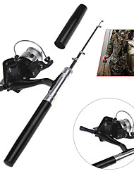 cheap -Aluminum Alloy Ice Fishing Rod Fibre Glass 100 cm Ice Fishing 5 sections Rod & Reel Combos Fast (F) Medium (M)