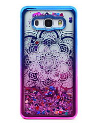 cheap -For Samsung Galaxy J5 (2016) J3 (2016) Case Cover Flowing Liquid Pattern Back Cover Case Glitter Shine Mandala Soft TPU for J3