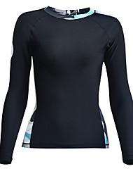 Femme 2mm Des sports Tactel Tenue de plongée Manches Longues Hauts/Tops-Plongée Printemps/Automne Imprimé