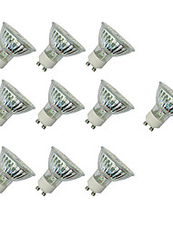 cheap -10pcs 3W 280-420lm GU10 LED Spotlight MR16 60 LED Beads SMD 3528 Warm White / White / 10 pcs