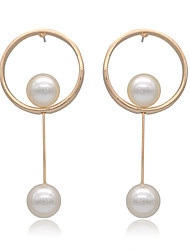 cheap -Women's Imitation Pearl 1 Drop Earrings / Hoop Earrings / Earrings - Basic / Handmade Gold Earrings For Christmas Gifts / Wedding / Party
