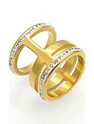 Homens Mulheres Anéis Grossos Maxi anel Anel Zircônia cúbica Circular Original Geométrico Moda Vintage Personalizado Rock Euramerican
