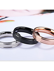 Ring Verlobungsring Elegant Modisch Klassisch Leder Titanstahl Runde Form Nummernform Schmuck Für Hochzeit Alltag 1 Set