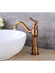 Contemporary Centerset Ceramic Valve Single Handle One Hole Antique Copper,  Bathroom Sink Faucet