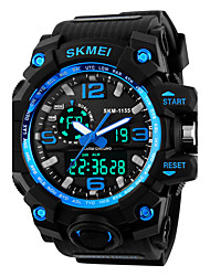 cheap -SKMEI 1155 Men's Sport Watch LED Digital Watch Digital Alarm Calendar Silicone Band Black