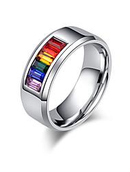 Homens Mulheres Anéis de Casal Anel Zircônia cúbica Amor Euramerican Clássico bijuterias Aço Inoxidável Amor Jóias Para Casamento