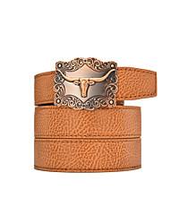 Adulto Vintage Casual Vaqueiro Cintos Liga Estampado Animal Cinto para a Cintura,Sólido