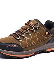 abordables -Hombre Zapatillas de Atletismo Confort Ante Primavera Otoño Deportivo Senderismo Confort Tacón Plano Marrón Verde Ejército Plano