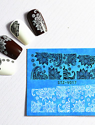 cheap -48pcs Water Transfer Sticker Lace Sticker Nail Stamping Template Daily Fashion High Quality