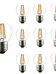 cheap -10pcs 4W 360lm E26 / E27 LED Filament Bulbs G45 4 LED Beads COB Dimmable Decorative Warm White 220-240V