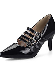 Women's Heels Light Soles Formal Shoes Leatherette All Seasons Business Daily Dress Light Soles Formal Shoes Buckle Stiletto HeelWhite